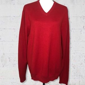 Banana Republic 100% Cashmere V Neck Sweater SZ L